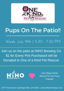 Pups on the Patio! @ HiHo Brewing | Cuyahoga Falls | Ohio | United States